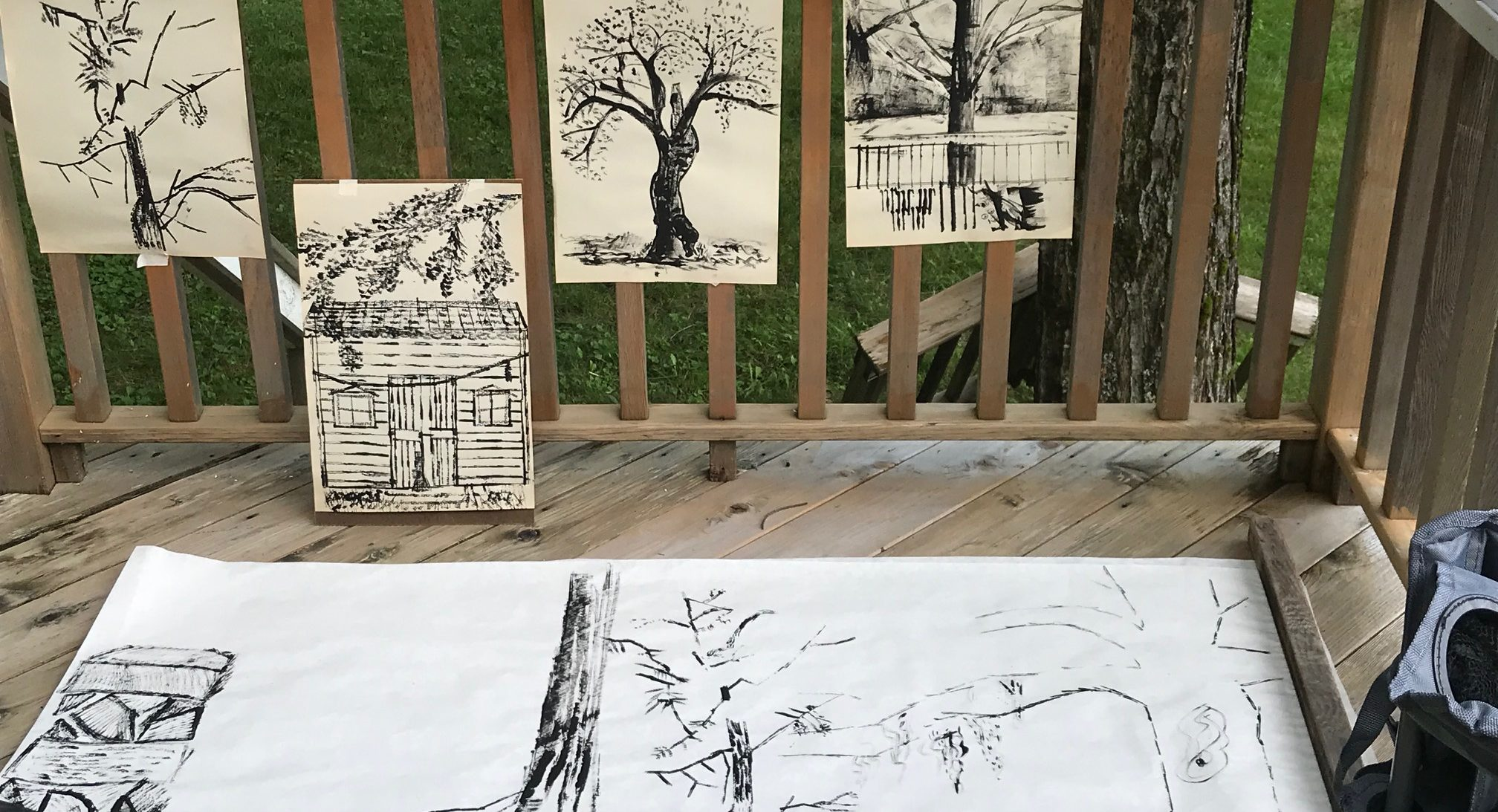 paintings hanging